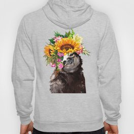 Sloth with Sunflower Crown Hoody