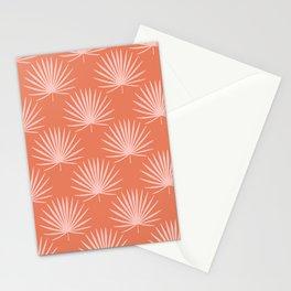 Tropical Palm Leaves Print Orange Sienna Decor Stationery Cards