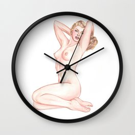 Marilyn Red Velvet Wall Clock