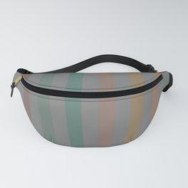 Line pattern 1 - pink , brown , light green , dark green and orange Fanny Pack