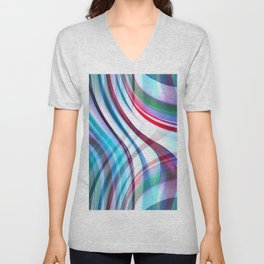 Candy Abstract Unisex V-Neck