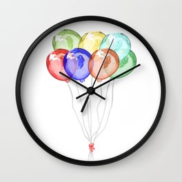 Baloons Wall Clock