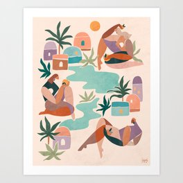 Women of the oasis Art Print