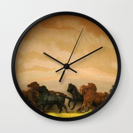 Toys Horses Diorama Wall Clock
