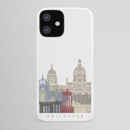 Edinburgh skyline poster iPhone Case