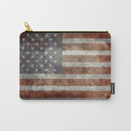 USA flag - Old Glory in dark grunge Carry-All Pouch