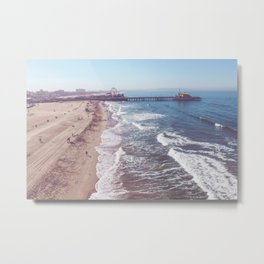 Santa Monica Pier by Drone Metal Print