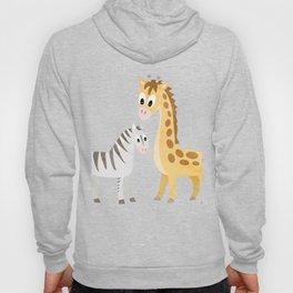 Safari Baby Zebra and Giraffe Hoody