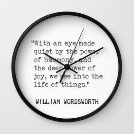 William Wordsworth Wall Clock
