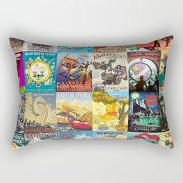 Amusement Rides Rectangular Pillow