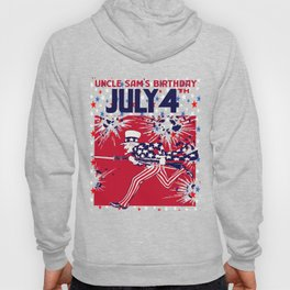 Star Studded Uncle Sam's Birthday 4th July Hoody
