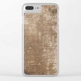Cement Weathered Brown Abstract Photograph Clear iPhone Case