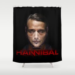 Hannibal Masked Shower Curtain