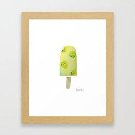 Kiwi Popsicle Framed Art Print