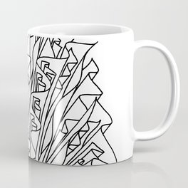 flame line art - white Coffee Mug