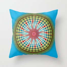 Health Mandala - מנדלה בריאות Throw Pillow