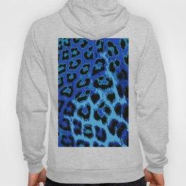 Blue Leopard Spots Hoody