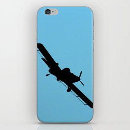 Crop Duster Silhouette iPhone Skin