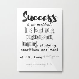 Success motivation print Metal Print