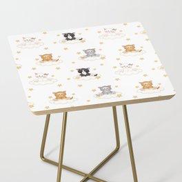 Cat Kitten Baby Girl Nursery Room Decor Side Table