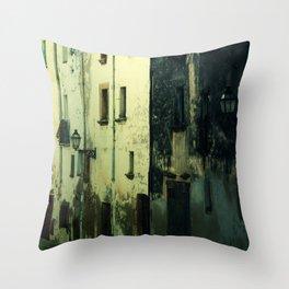 Creepy House Throw Pillow