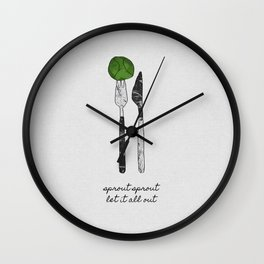 Sprout Sprout, Vegan, Vegetarian Wall Clock