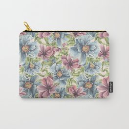 Hibiscus Vintage Pattern Carry-All Pouch