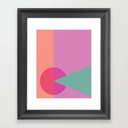 Cacho Shapes LXXX Framed Art Print
