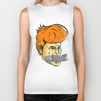 donald duck Biker Tanks featuring Donald Duct by madebymarco