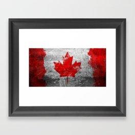 Canada Flag Framed Art Print