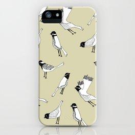 Bird Print - Natural iPhone Case
