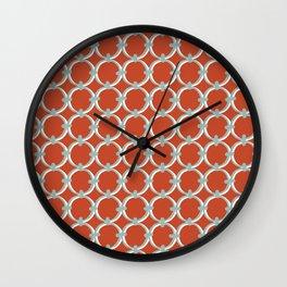 Classic Circles Orange and Teal Wall Clock
