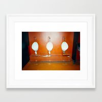 bathroom Framed Art Prints featuring Bathroom by neil aline