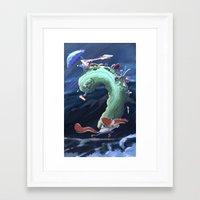 backpack Framed Art Prints featuring Backpack by Vovka Solovev