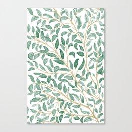 Green Leaf Pattern Canvas Print