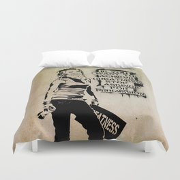 Banksy, Greatness Duvet Cover