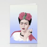 frida Stationery Cards featuring Frida by Acromatiq