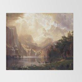 Albert Bierstadt - Among the Sierra Nevada, California Throw Blanket