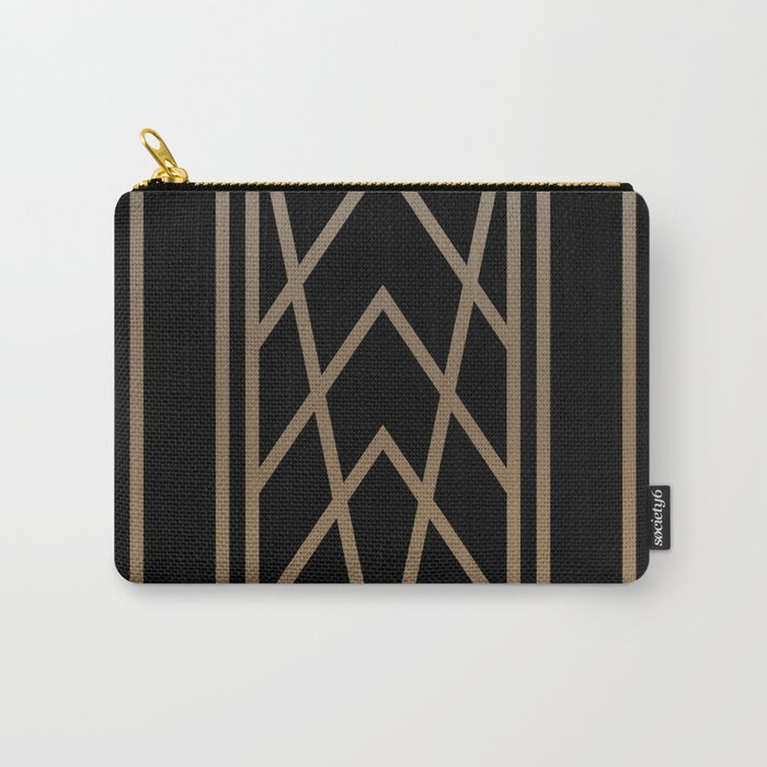 BLACK&GOLD 2 (abstract artdeco geometric) Carry-All Pouch