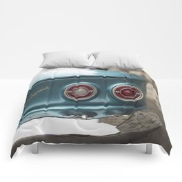 Vintage Chevy Turquoise Blue & Red Comforters