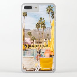 Palm Springs Pool Day VI Clear iPhone Case