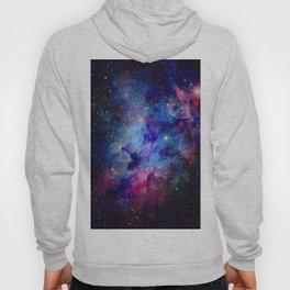 Blue Glitter Galaxy Hoody