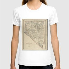 Vintage Map of Nevada (1894) T-shirt