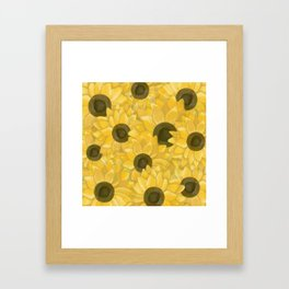 Kansas Sunflowers Framed Art Print