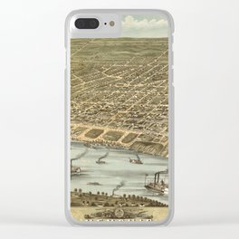 Map of Memphis 1870 Clear iPhone Case