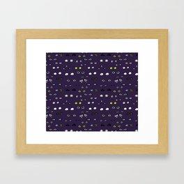 Eyes in the night Framed Art Print