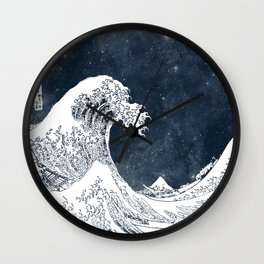 The Great Wave of a Star System Wall Clock