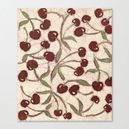 Sweet Cherry Batik Canvas Print
