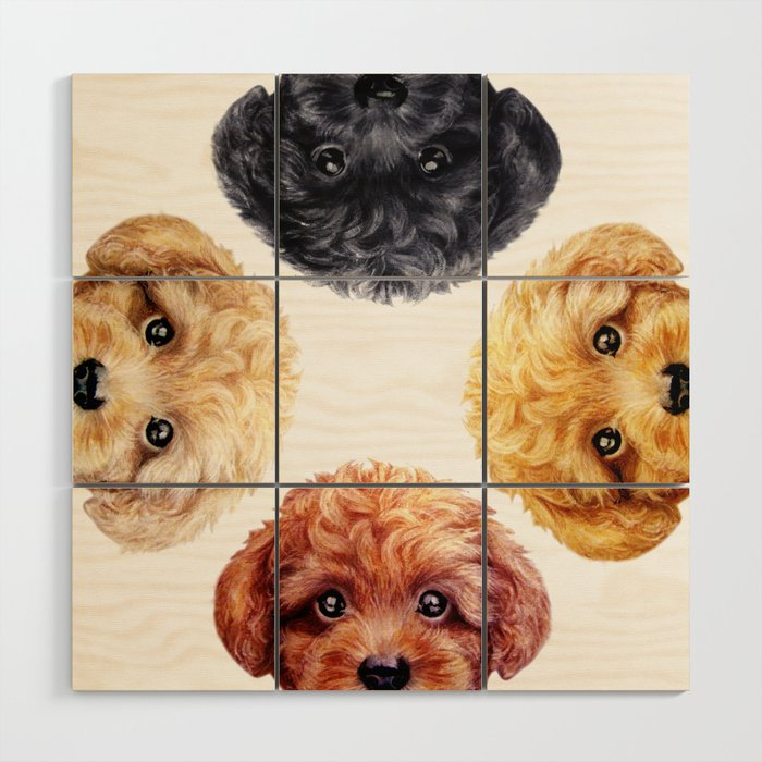 Toy poodle friends mix, Dog illustration original painting print ...