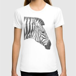 Black and White Zebra Profile T-shirt